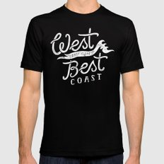 West Coast is the Best Coast Mens Fitted Tee Black SMALL