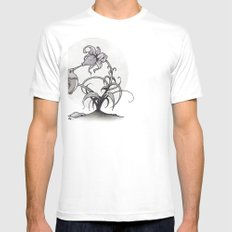The Kiss SMALL White Mens Fitted Tee