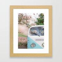 Vintage Volkswagen Van Framed Art Print