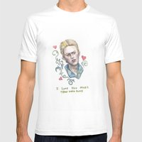 I Love You More Than Dav… Mens Fitted Tee White SMALL