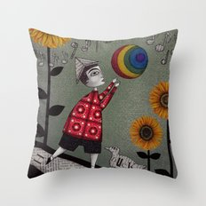 Henry's Rainbow Throw Pillow