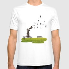 singing birds Mens Fitted Tee SMALL White