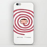 Awesome tongue iPhone & iPod Skin