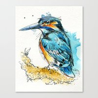 Regal Kingfisher Canvas Print