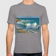 Fiji Mens Fitted Tee Tri-Grey SMALL