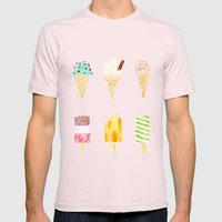 ice cream selection Mens Fitted Tee Light Pink SMALL