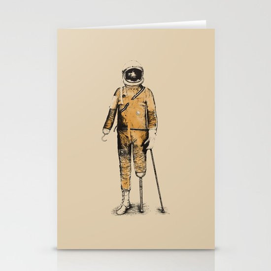 Astropirate (Watercolors) Stationery Card