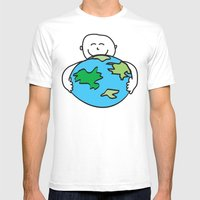 Love The Earth Mens Fitted Tee White SMALL