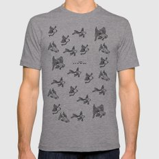Love: It's In the Eyes Mens Fitted Tee Athletic Grey SMALL