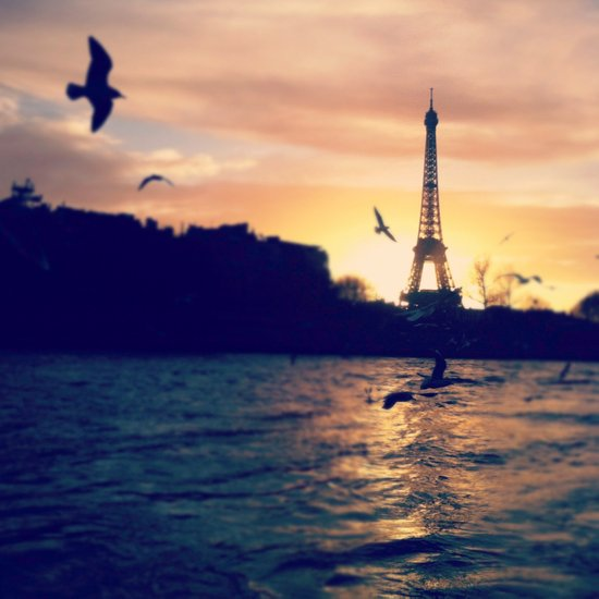 Sunset on the Seine Art Print