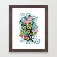 Bicycle Birds Framed Art Print