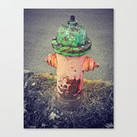 Hydrant Of Fire Canvas Print