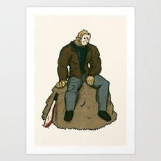 Jason Vorhees - A quiet moment of contemplation Art Print