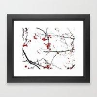 Little Red Kisses Framed Art Print