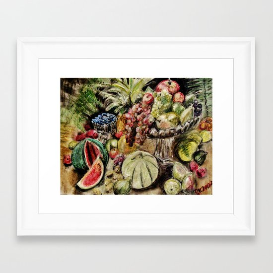CRAYON LOVE - Fruit Framed Art Print