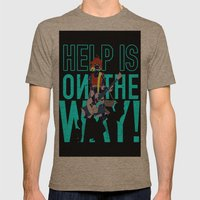 Help is on The Way Mens Fitted Tee Tri-Coffee SMALL