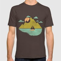Lost Lake Mens Fitted Tee Brown SMALL