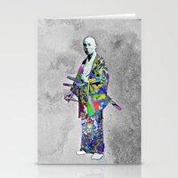 Colorful Samurai Stationery Cards