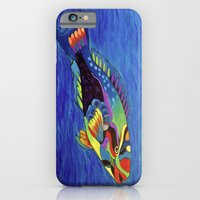 iPhone & iPod Case featuring Rainbow parrot fish by maggs326