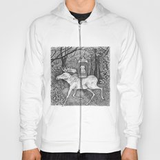 Fox riding moose Hoody