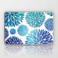 Ocean Flowers Watercolor Laptop & iPad Skin