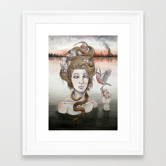 The Last Gorgon Framed Art Print