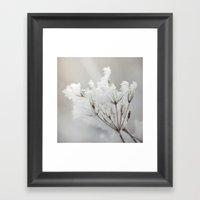 Winter Macro Framed Art Print