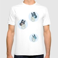 Hampster Butterflies Mens Fitted Tee White SMALL