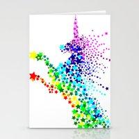 Unicorn - Licorne - Unic… Stationery Cards
