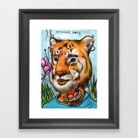 tigerB Framed Art Print