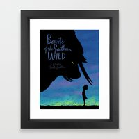 Beasts Of The Southern W… Framed Art Print
