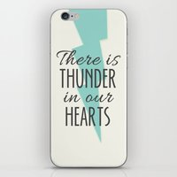 There is Thunder in our Hearts iPhone & iPod Skin