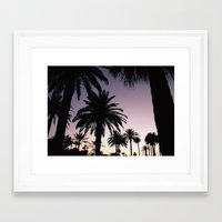 Framed Art Print featuring The Palms by dTydlacka