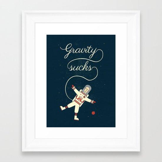 It's More Fun In Space Framed Art Print