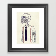 The Gentleman becomes a Hipster  Framed Art Print