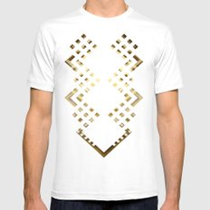 CUBIC DELAY SMALL White Mens Fitted Tee