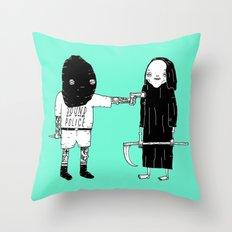 Rob Death Throw Pillow