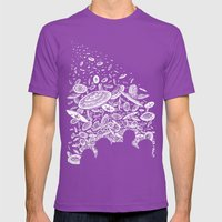 The Day The Saucers Came Mens Fitted Tee Ultraviolet SMALL