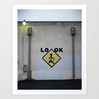 Look! Art Print