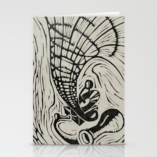 Gramophone Stationery Card