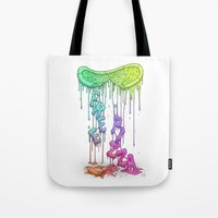 Sloppy Pizza Pie - FREE PIZZA [neon] Tote Bag