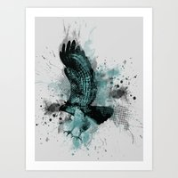HAWK DIVE Art Print