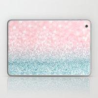 Aqua And Pink Glitter Gr… Laptop & iPad Skin
