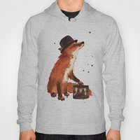 Fox in hat, office decor, gift for the boss, fox, fox painting, British fox Hoody