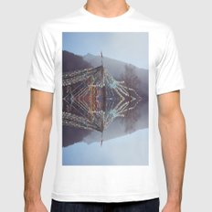 Flag Mountain SMALL Mens Fitted Tee White
