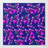 Dragonflies Pink QQ Canvas Print