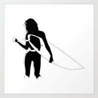 Surf Chick Art Print