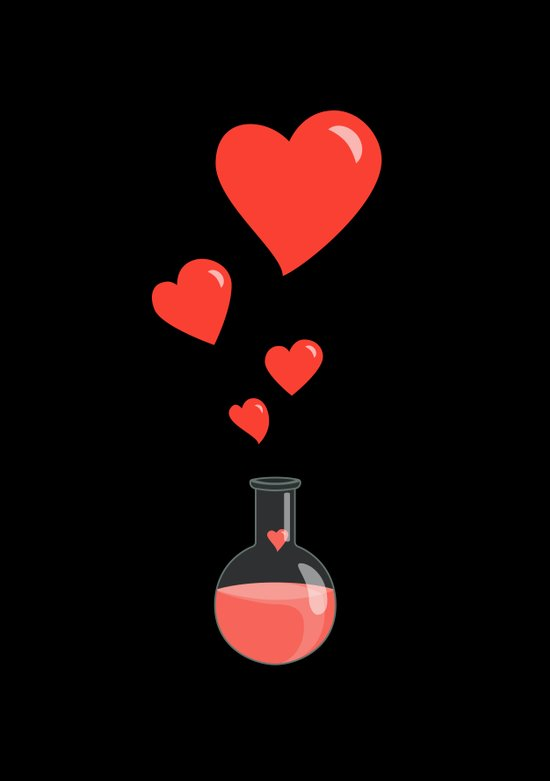 Love Chemistry Flask of Hearts Canvas Print