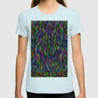 Wild Pattern 99 Womens Fitted Tee Light Blue SMALL