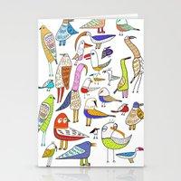 Birds. bird, pattern, animals, kids, art, design, illustration,  Stationery Cards